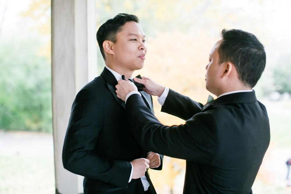 haejin albert armour house groom getting ready