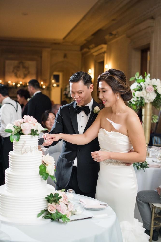 haejin albert armour house cutting wedding cake