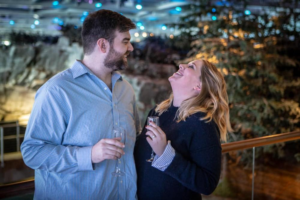 katlin tyler shedd aquarium perfect proposal