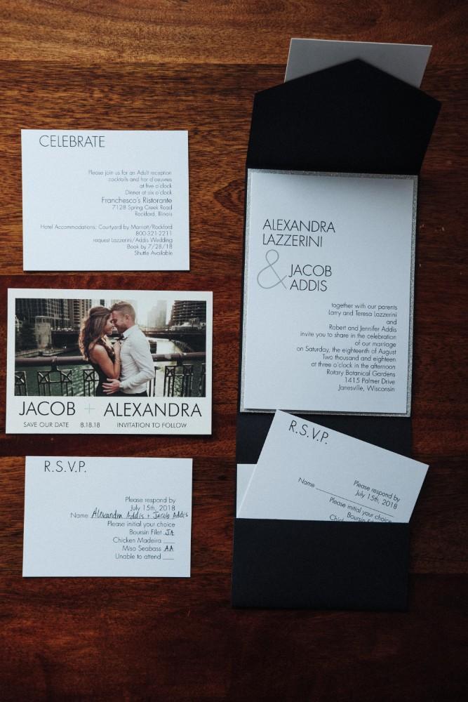 alexandra jacob franchesco's ristorante wedding stationery