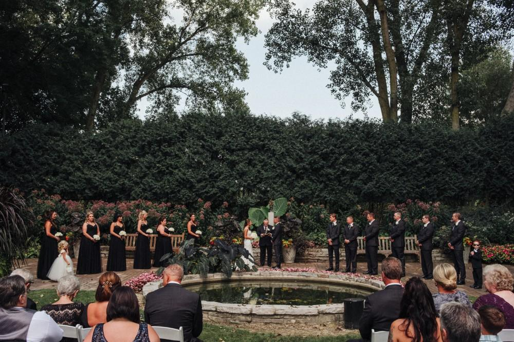 alexandra jacob franchesco's ristorante wedding ceremony