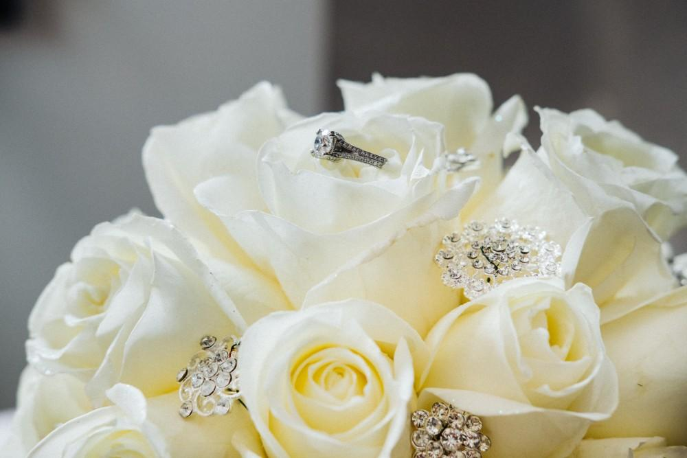 alexandra jacob franchesco's ristorante bouquet and ring