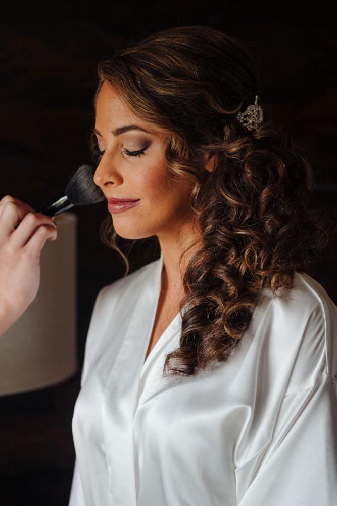 alexandra jacob franchesco's ristorante bridal makeup