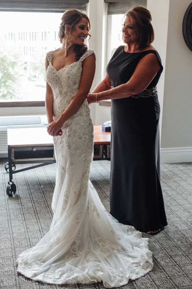 alexandra jacob franchesco's ristorante mother bride wedding dress