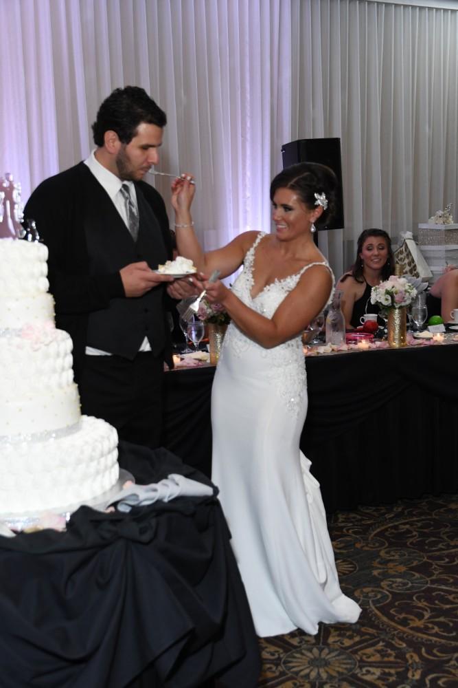 amanda bradley cutting cake