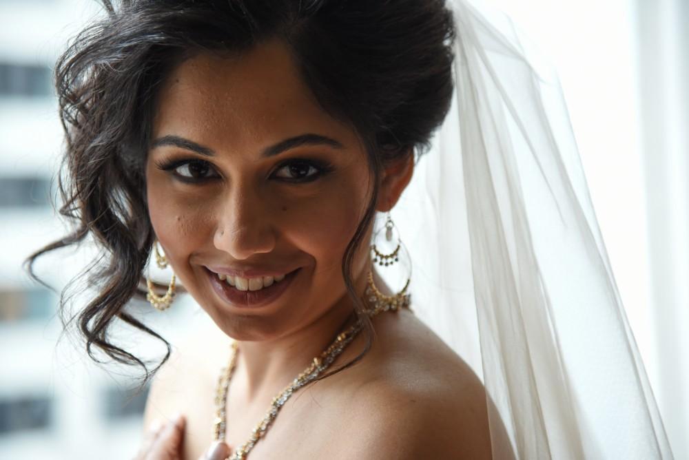 bindu ed thewhit bride's makeup
