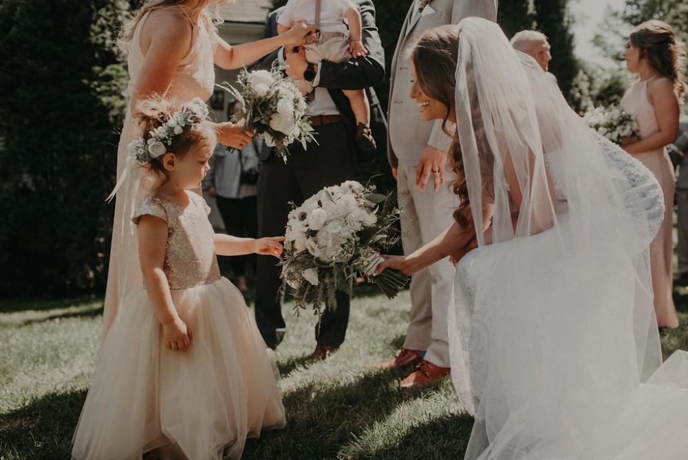 michelle ben wandering tree estate bride flower girl