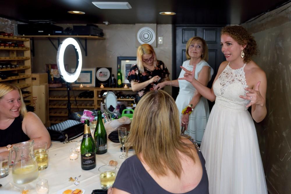 elizabeth & tony at volo wine bar bride getting ready