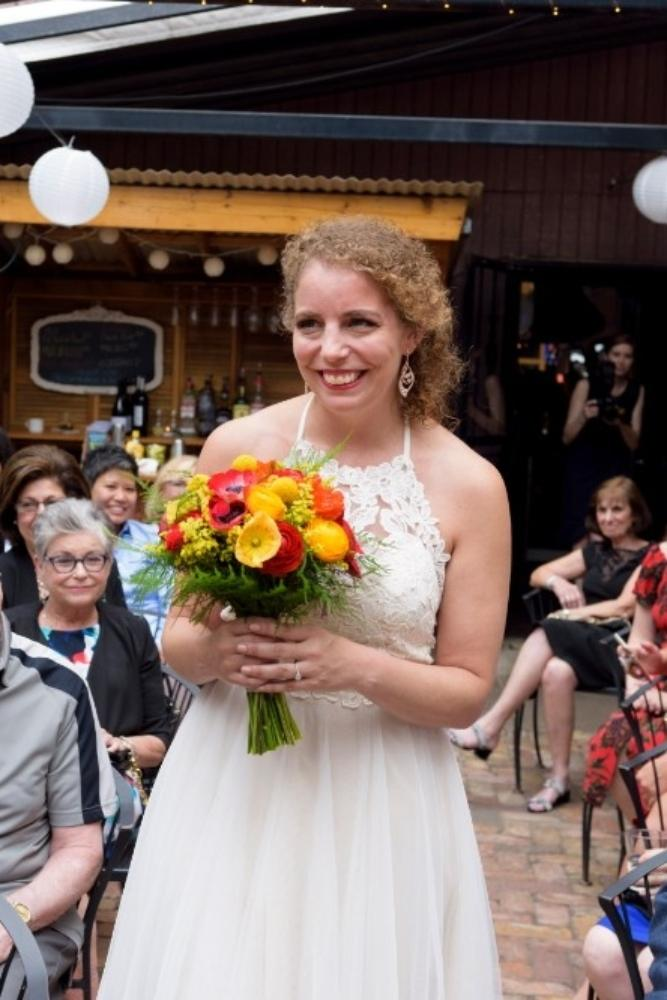 elizabeth & tony at volo wine bar bridal bouquet