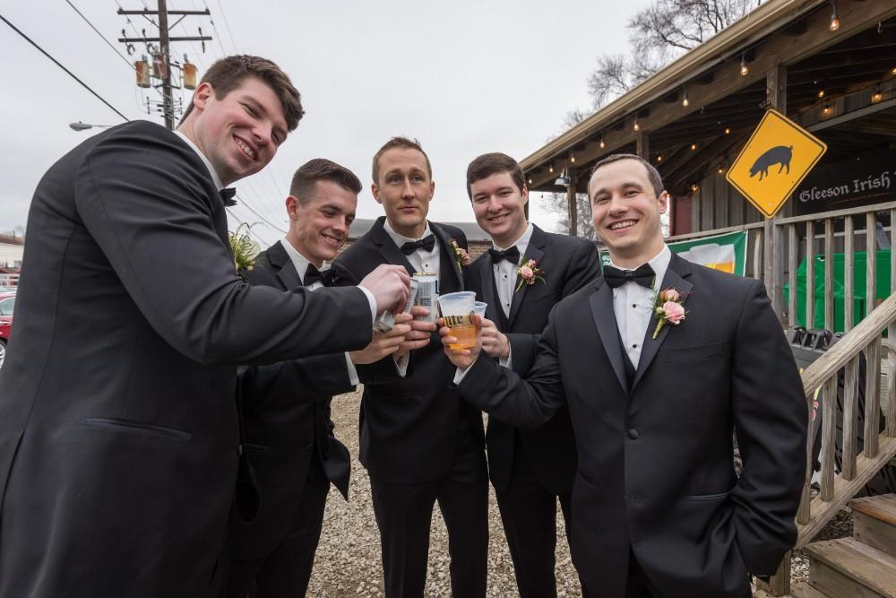 lauren and jordan haley mansion groom and groomsmen