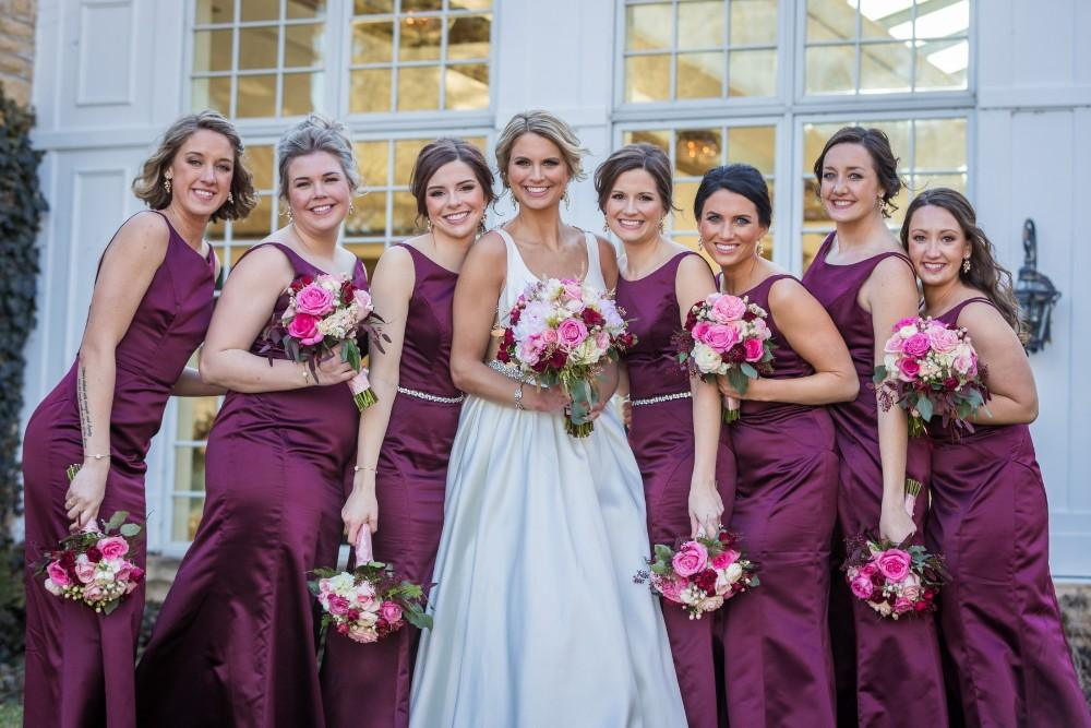 lauren and jordan haley mansion bridesmaids