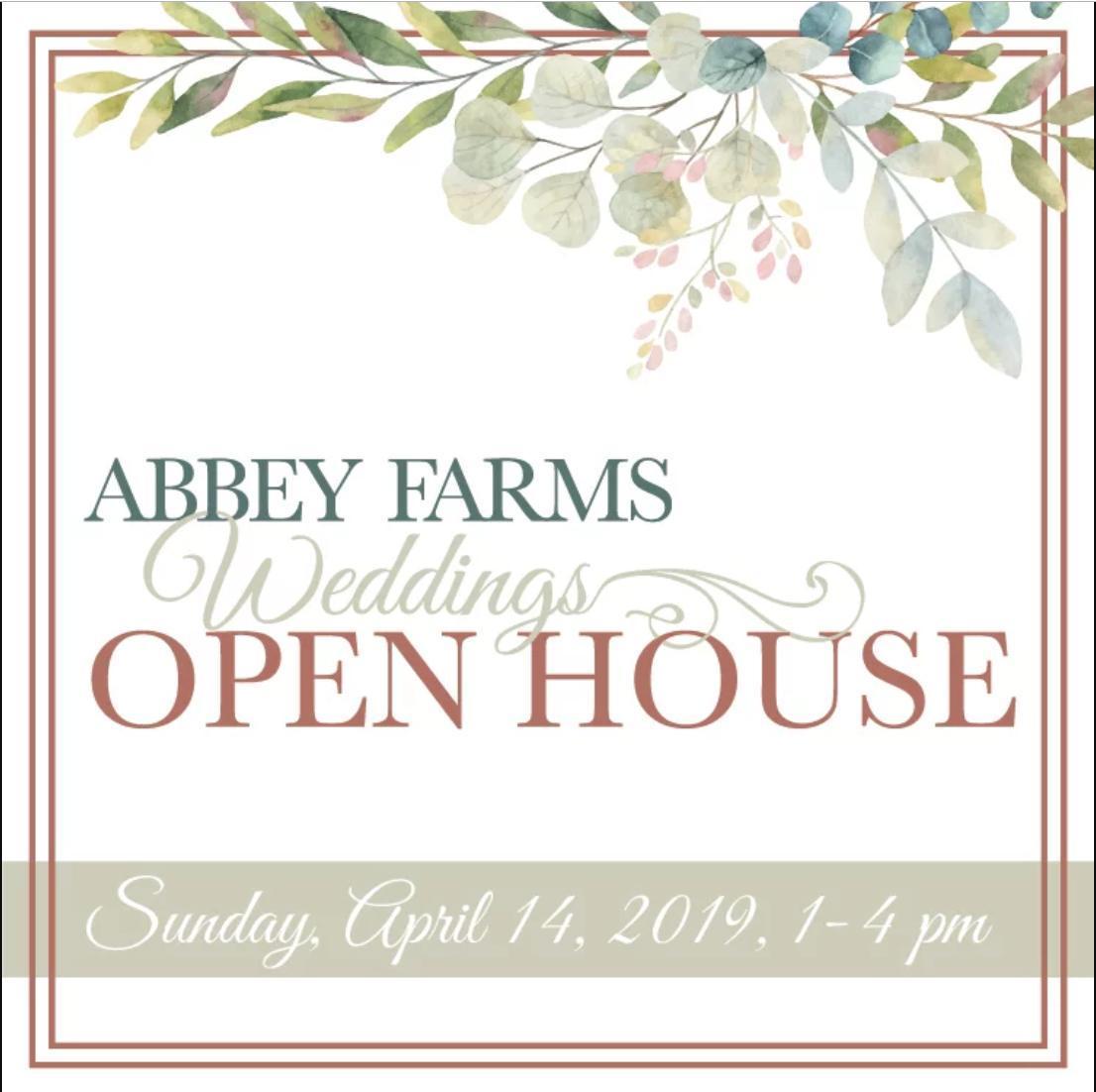 Abbey Farms Wedding Open House - April 2019