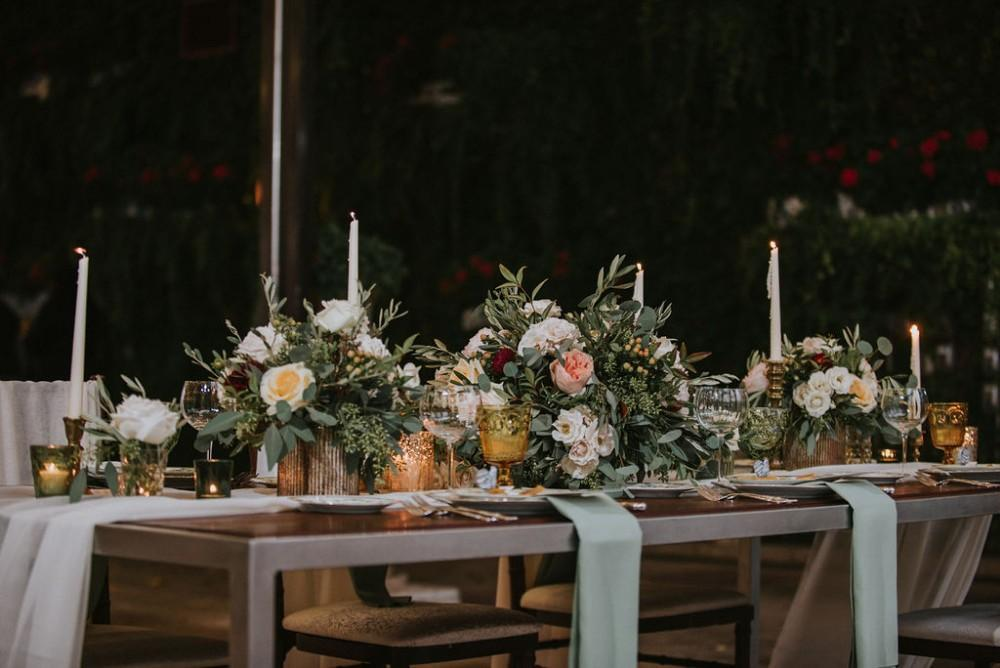 styled shoot vintage tuscany reception table