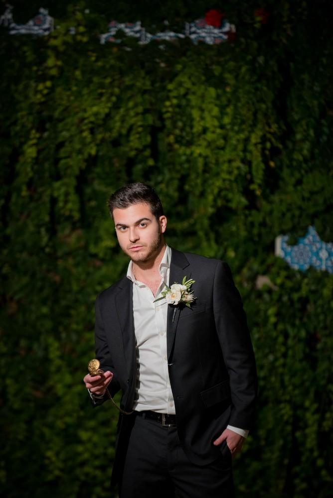 styled shoot vintage tuscany groom pocketwatch
