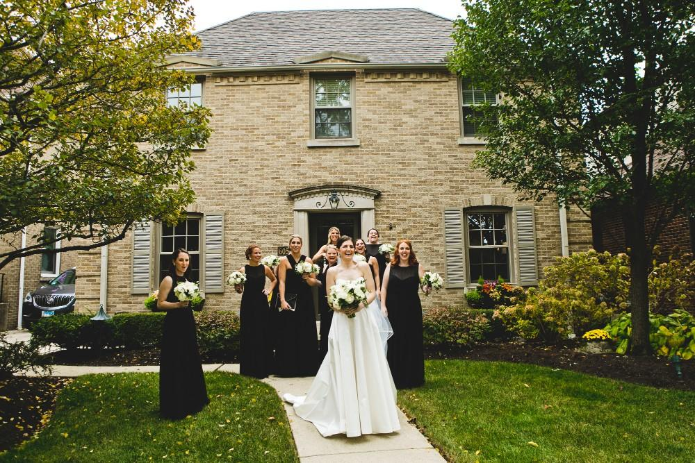 annie mike the langham chicago bridal party