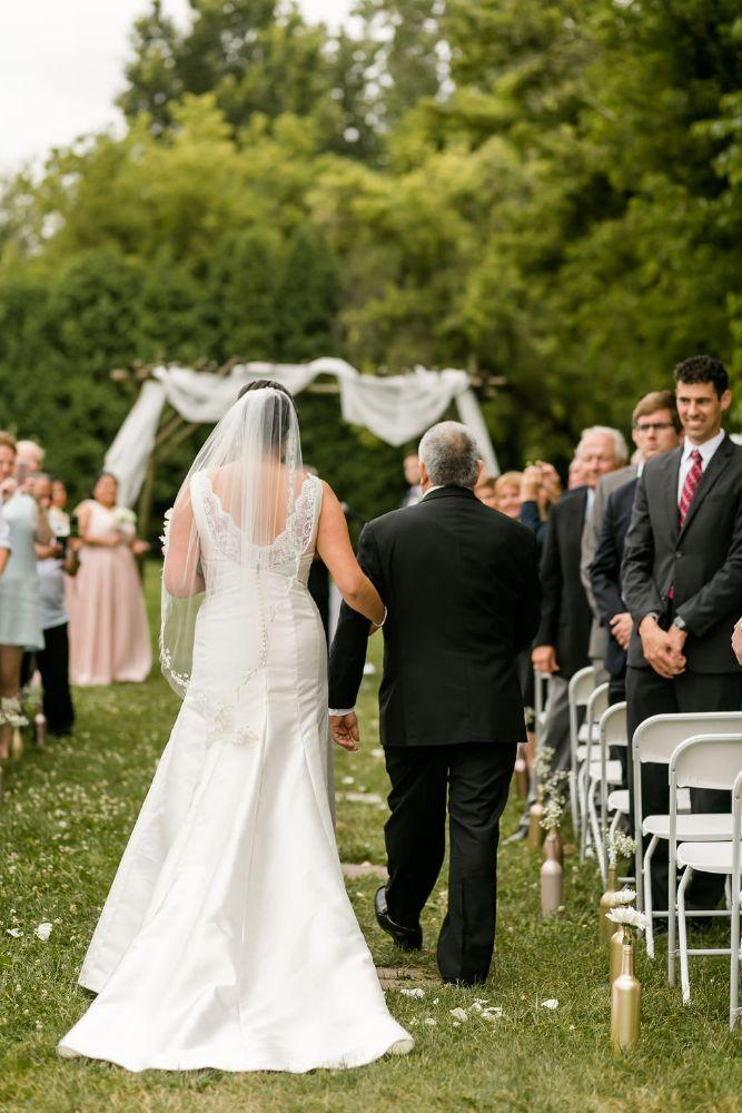 daisy warren county line orchard father daughter walking down the aisle