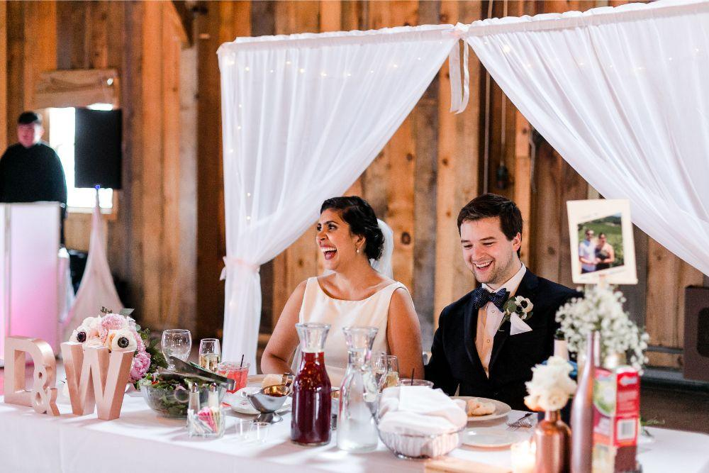 daisy warren county line orchard bride groom toasts