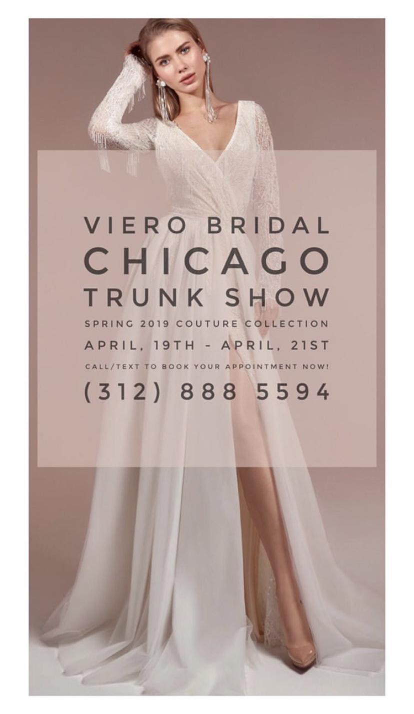 Viero Bridal Chicago Trunk Show - April 2019