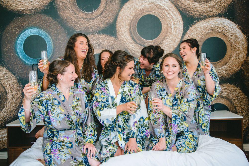 jessica john dinolfos banquets bride and bridesmaids