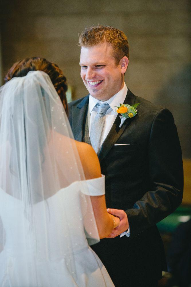 jessica john dinolfos banquets bride and groom ceremony
