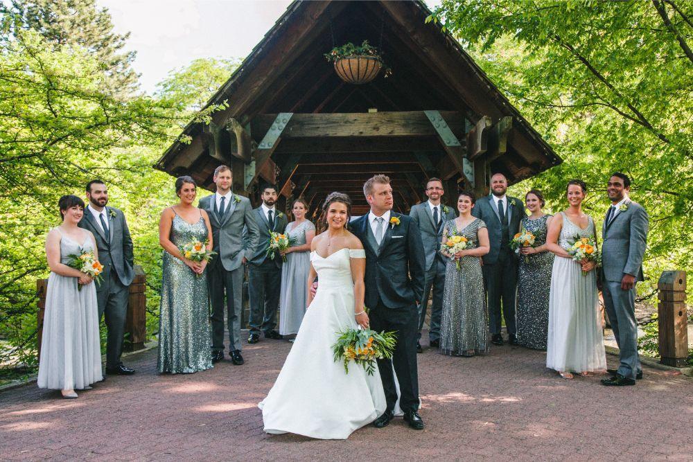 jessica john dinolfos banquets wedding party