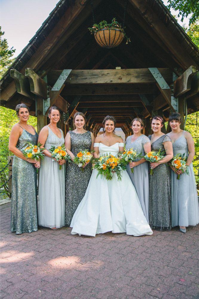 jessica john dinolfos banquets bridesmaids