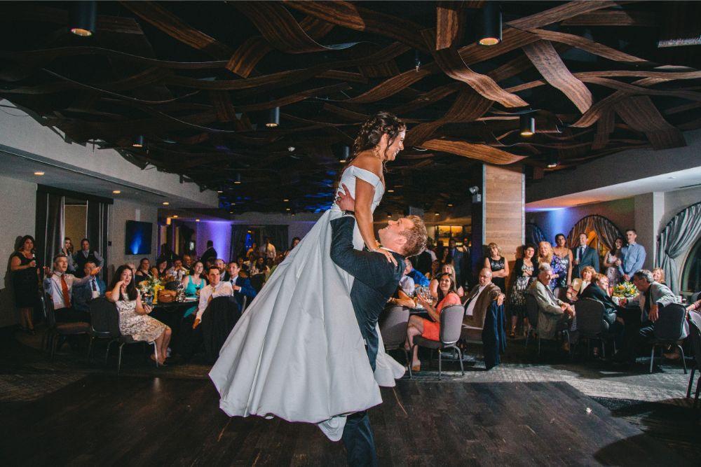 jessica john dinolfos banquets first dance