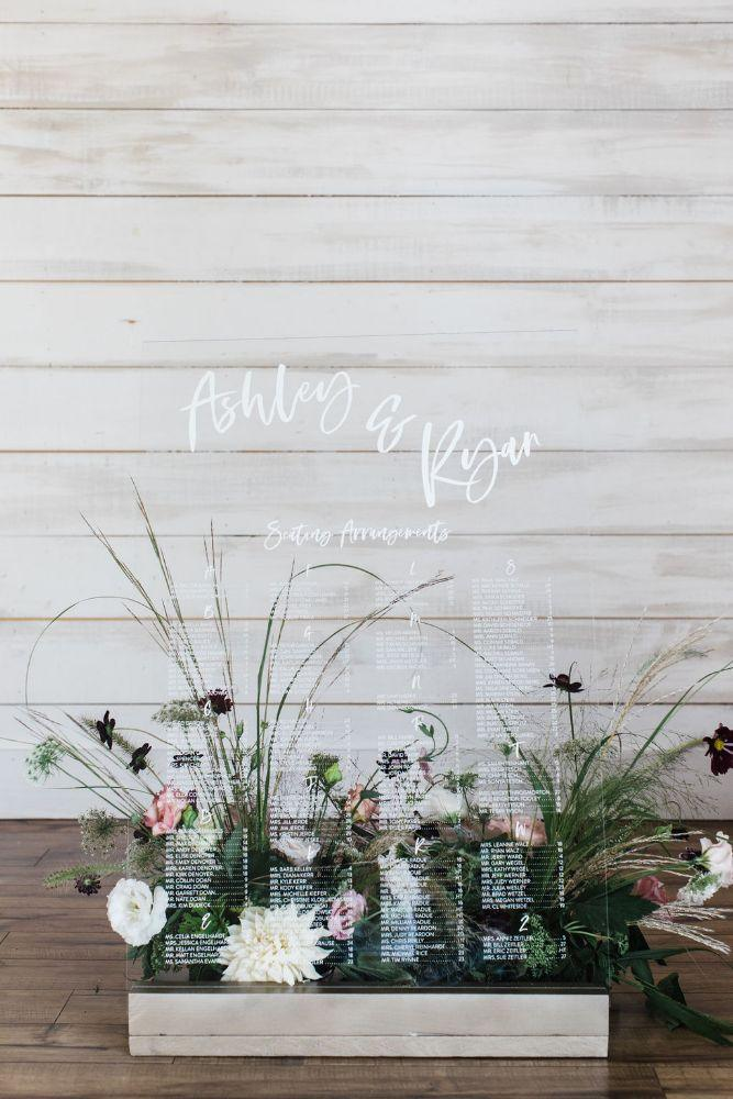 acrylic seating chart summer 2019 wedding trends
