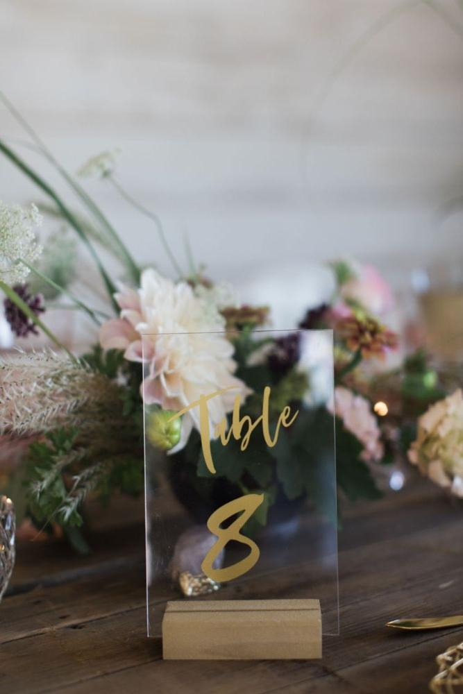 acrylic table number summer 2019 wedding trends