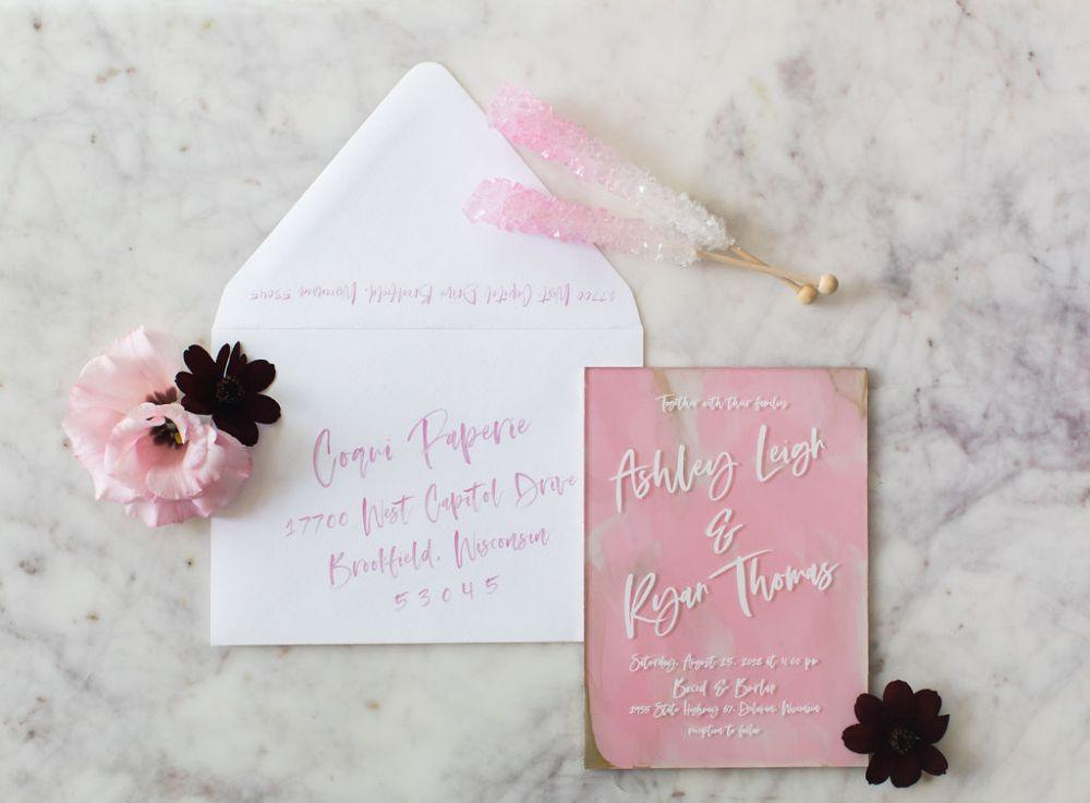 acrylic wedding invitation summer 2019 wedding trends