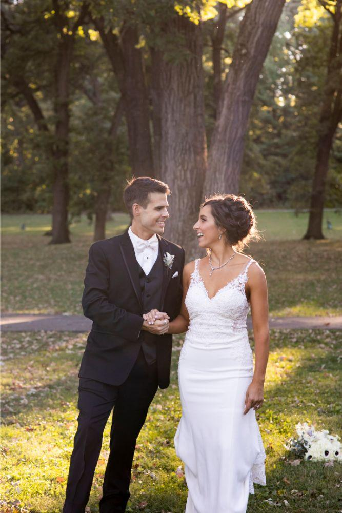 andrea matthew cotillion banquets portrait bride and groom