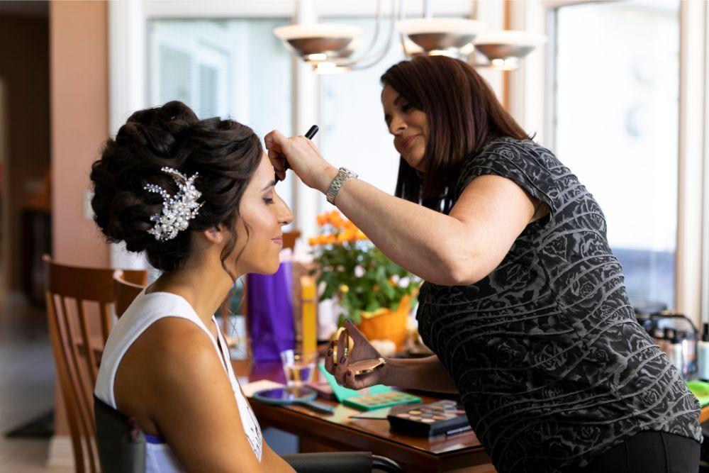andrea matthew cotillion banquets bridal makeup getting ready