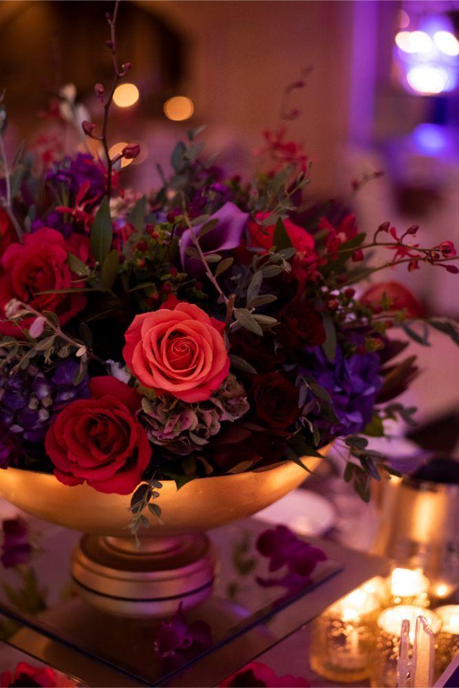 andrea matthew cotillion banquets bright floral centerpiece