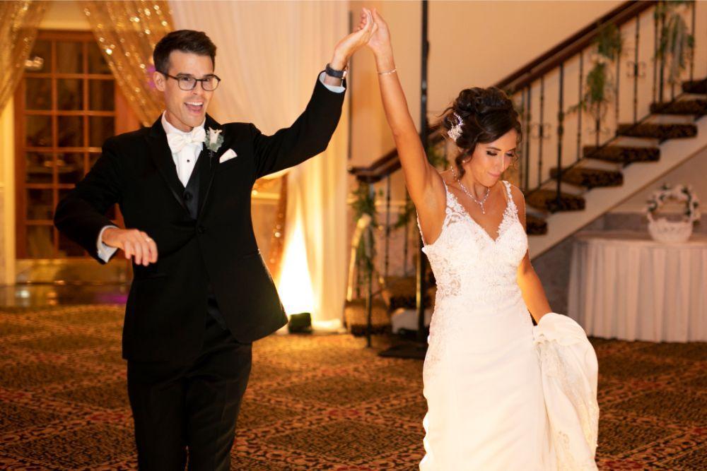 andrea matthew cotillion banquets bride groom entrance