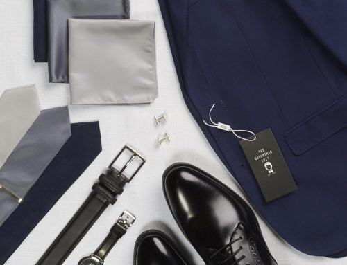 What to Wear? Brown or Black Shoes with a Navy Suit – with The Groomsman Suit