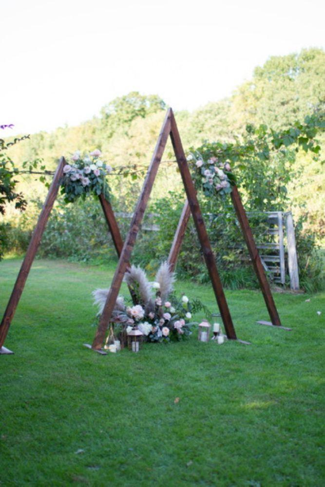 triangle bohemian wedding arch summer 2019 wedding trends