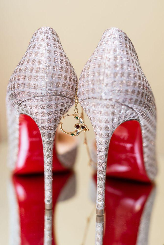 kajal akash pearl banquets & conference center silver pumps bridal shoes