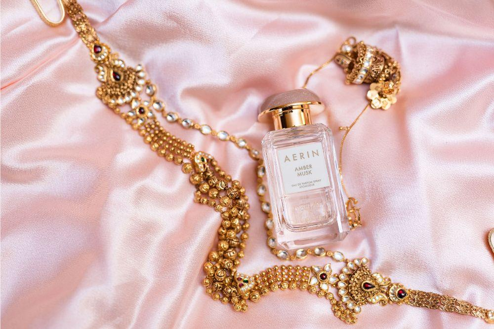 kajal akash pearl banquets & conference center bridal jewelry perfume getting ready photography