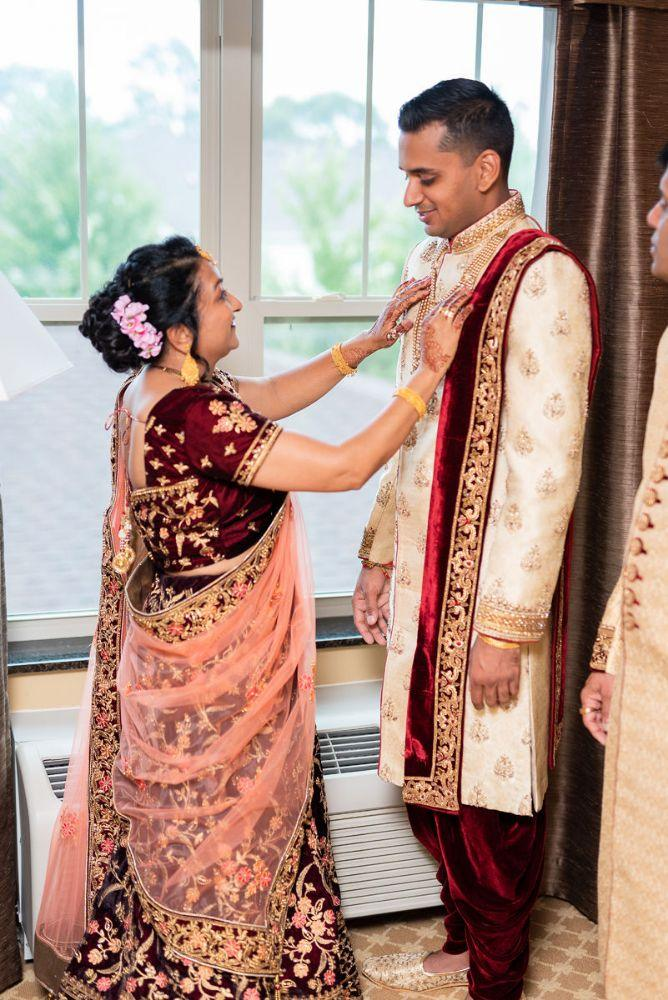 kajal akash pearl banquets & conference center groom getting ready wedding photography