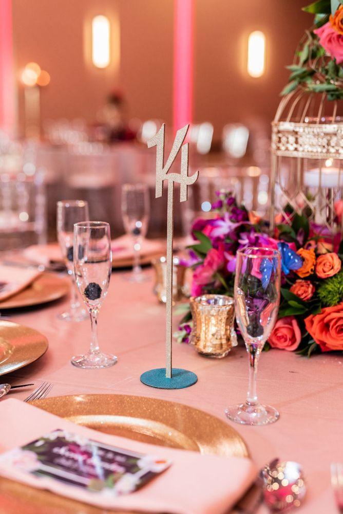kajal akash pearl banquets & conference center table number wedding reception decor