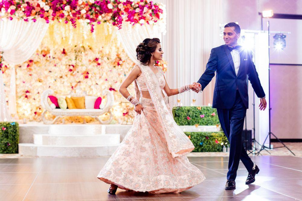 kajal akash pearl banquets & conference center bride and groom first dance
