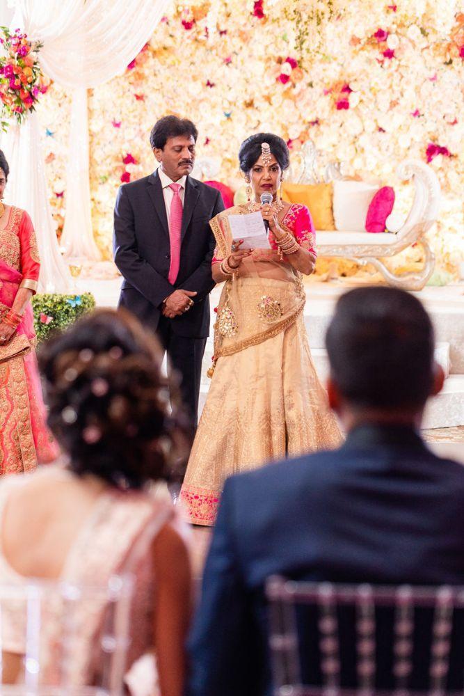 kajal akash pearl banquets & conference center parents giving toast