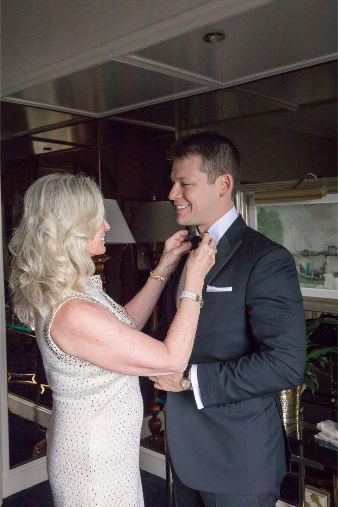 katrina drew the drake chicago wedding groom getting ready