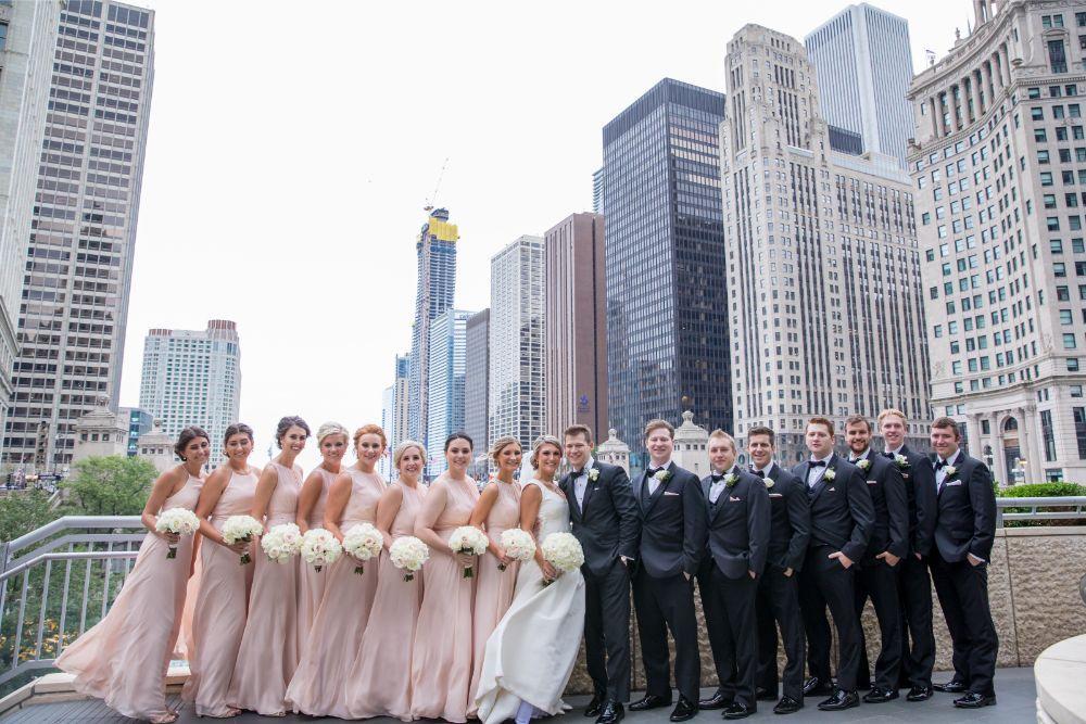 katrina drew the drake chicago wedding wedding party chicago river