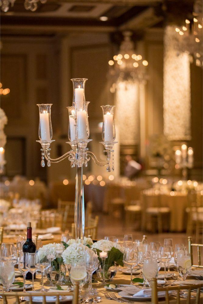 katrina drew the drake chicago wedding wedding reception centerpieces
