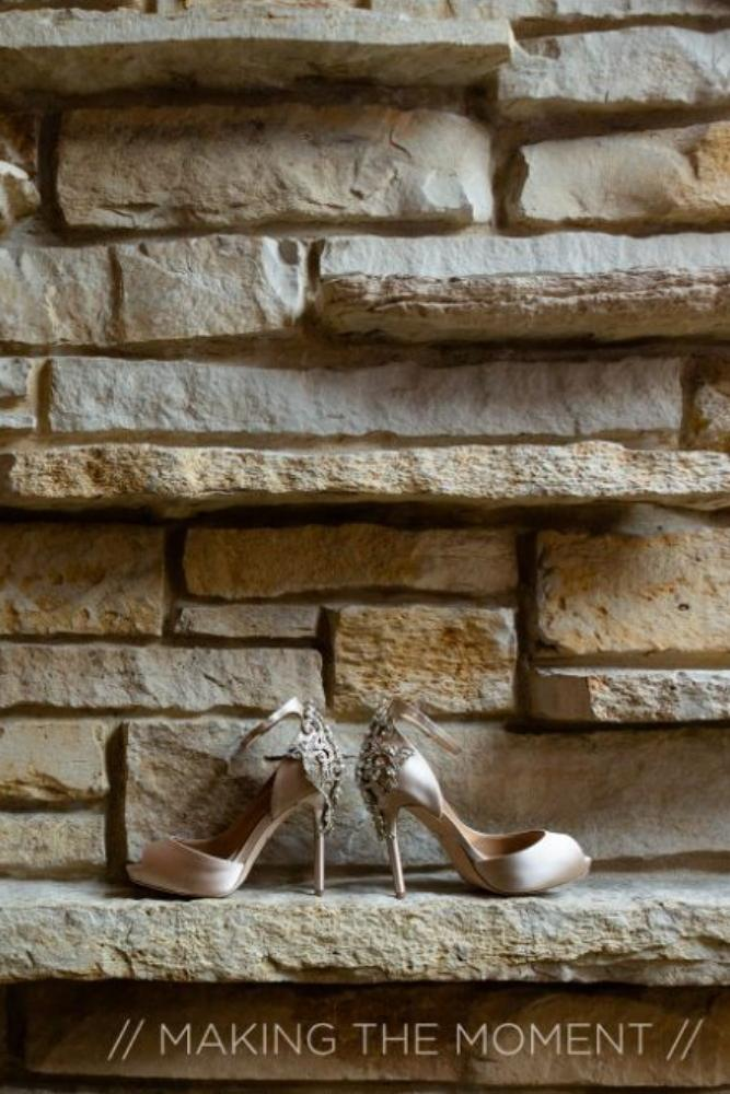 grace nicholas the hyatt lodge oak brook, IL bridal shoes
