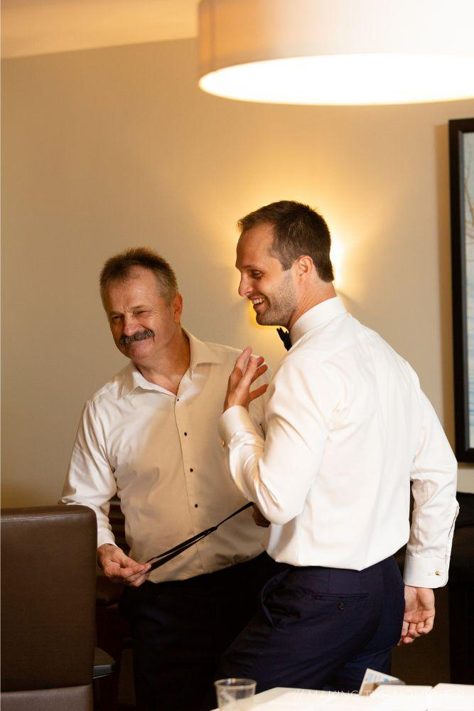 grace nicholas the hyatt lodge groom getting ready