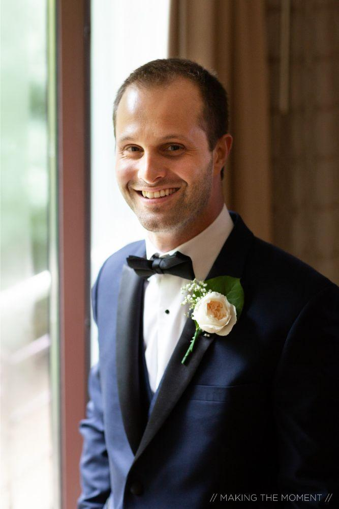grace nicholas the hyatt lodge oak brook, IL groom getting ready