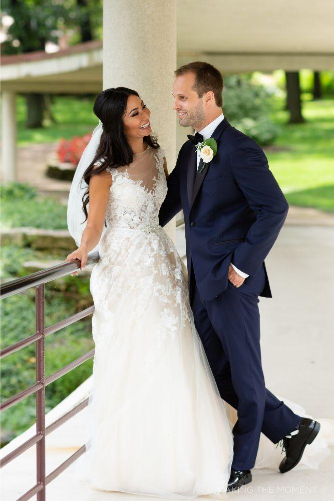 grace nicholas the hyatt lodge oak brook, IL bride and groom portraits