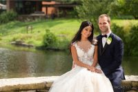 grace nicholas the hyatt lodge oak brook, IL bride and groom portrait